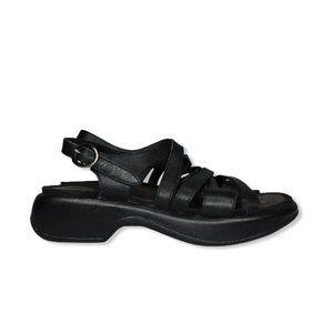 Dansko Lolita Sling Back Caged Sandals Black
